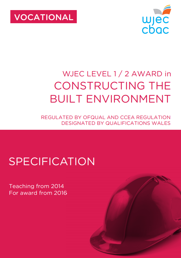 Level 1/2 Construction for The Built Environment Specification
