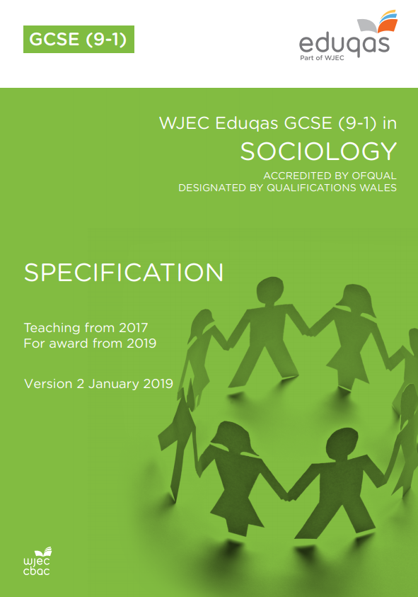 GCSE Sociology Specification