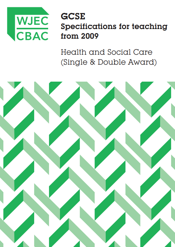 GCSE Health and Social care Specification