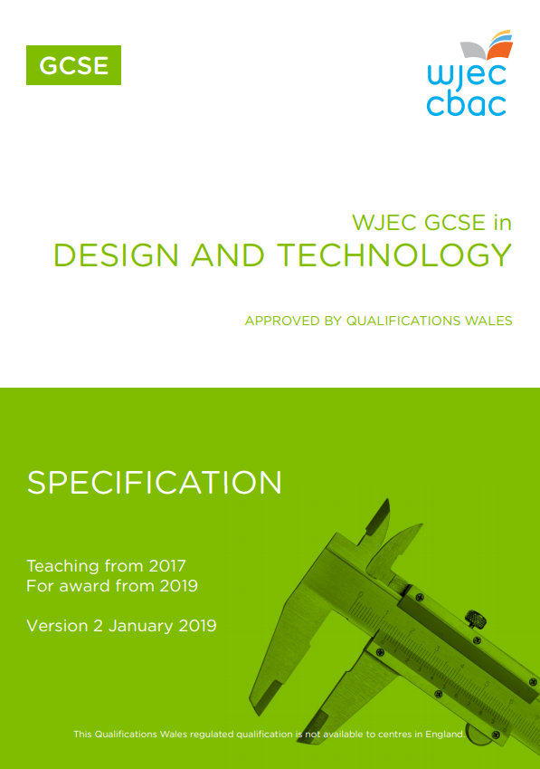 GCSE Design and Technology Specification