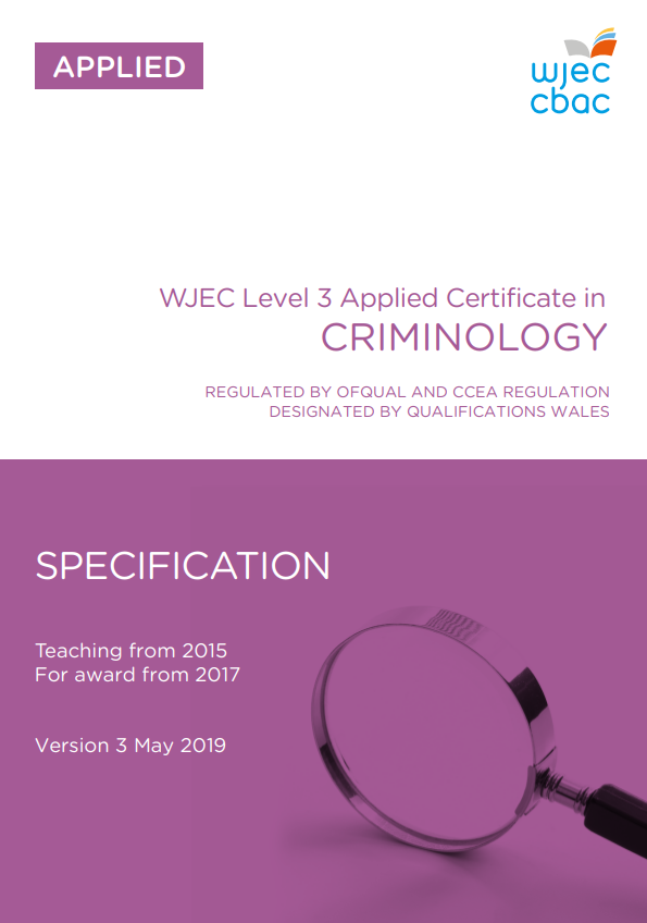 Applied Certificate in Criminology