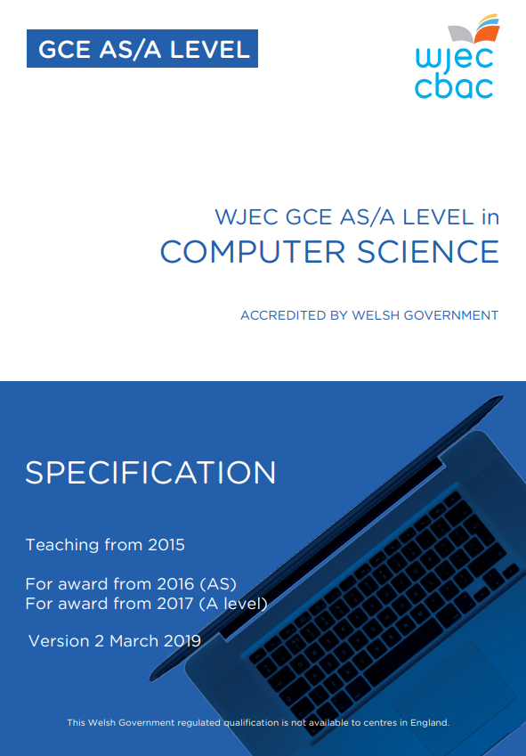 AS/A Level Computer Science Specification