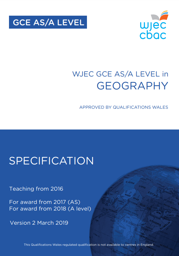 AS/A Level Geography Specification