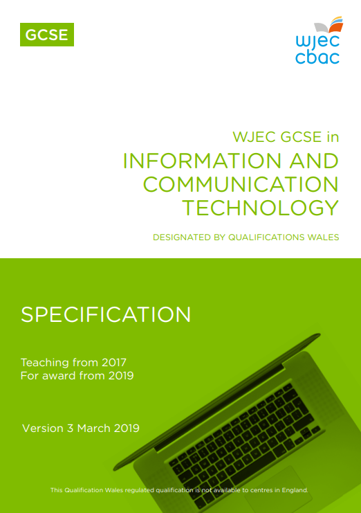 GCSE Information and Communication Technology Specification