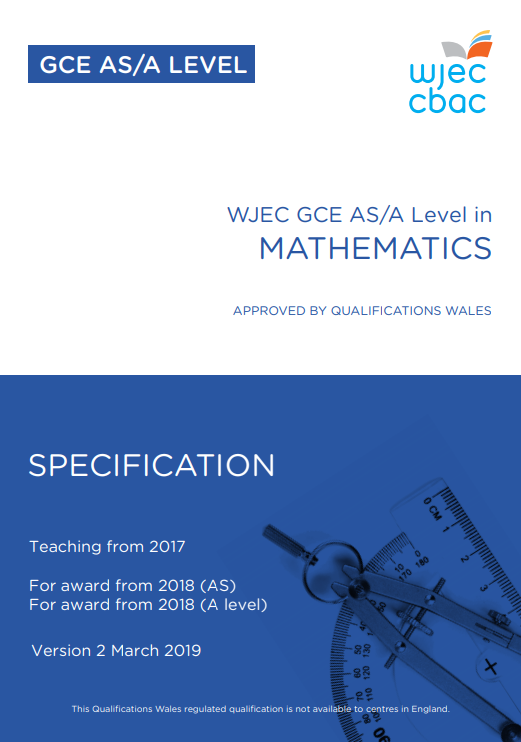 AS/A Level Mathematics Specification