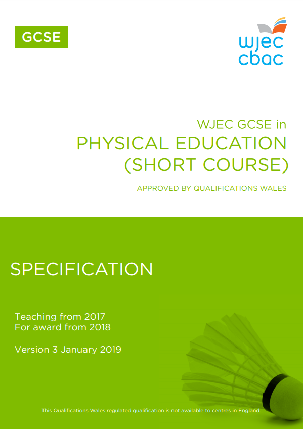 GCSE Physical Education Short Course Specificaiton
