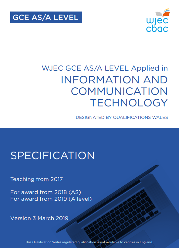 AS/A Level Applied ICT Specification