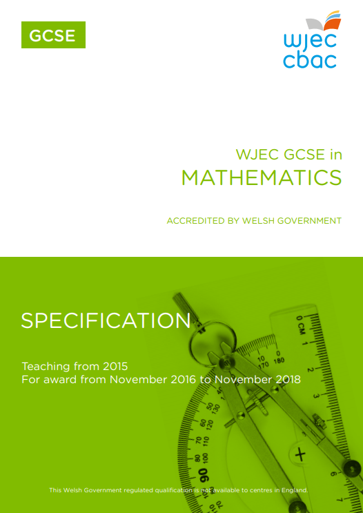 GCSE Mathematics Specification