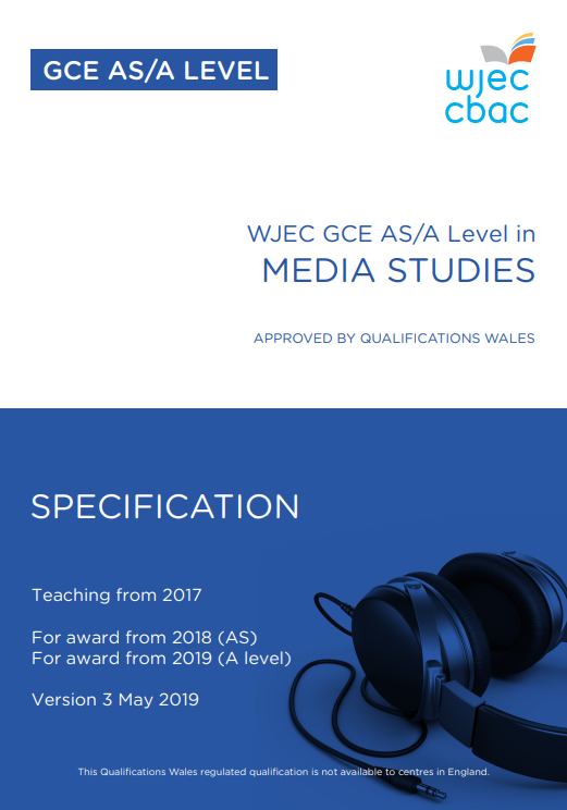 AS/A Level Media Studies Specification
