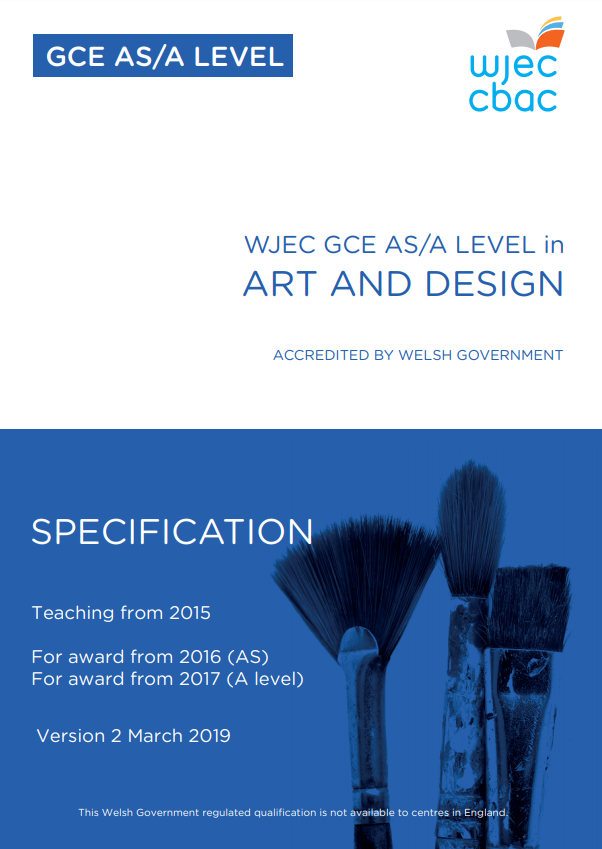 WJEC GCE Art And Design Spec