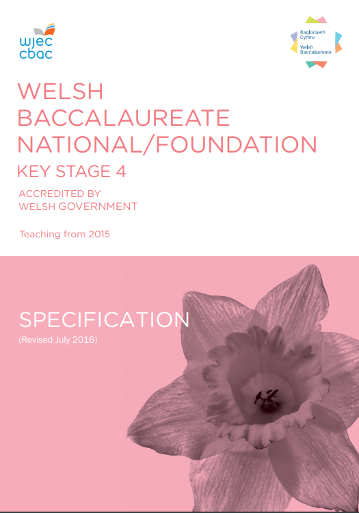 Welsh Baccalaureate National/Foundation Specification