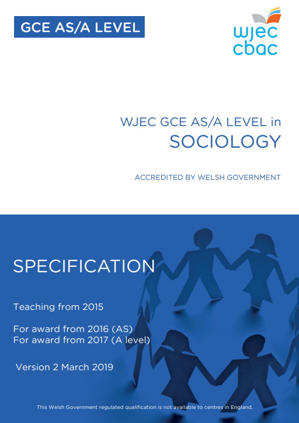 AS/A Level Sociology Specification