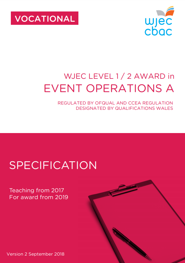 Level 1/2 Event Operations Specification