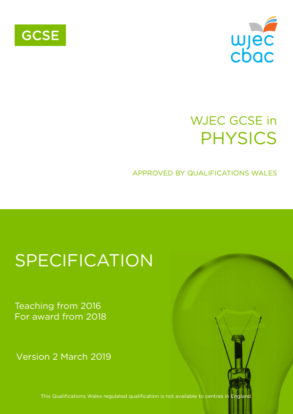 GCSE Physics Specification