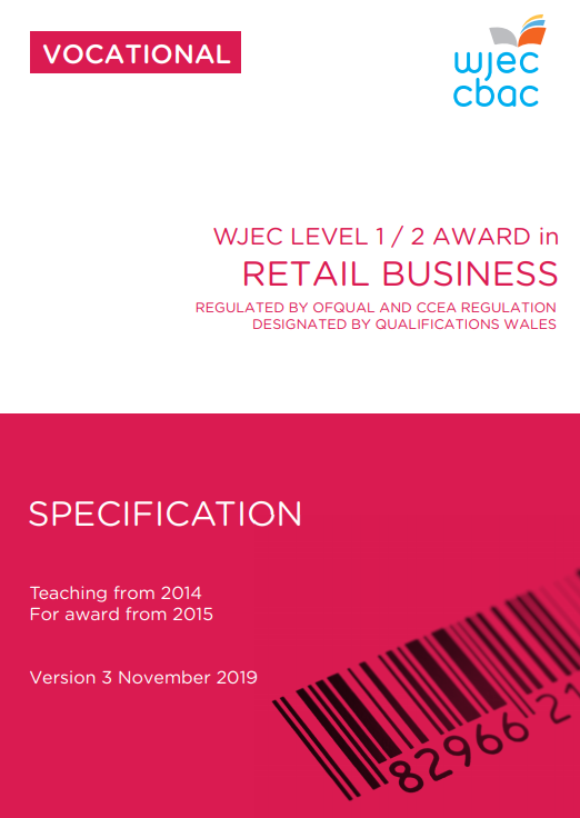 Level 1/2 Retail Business Specification