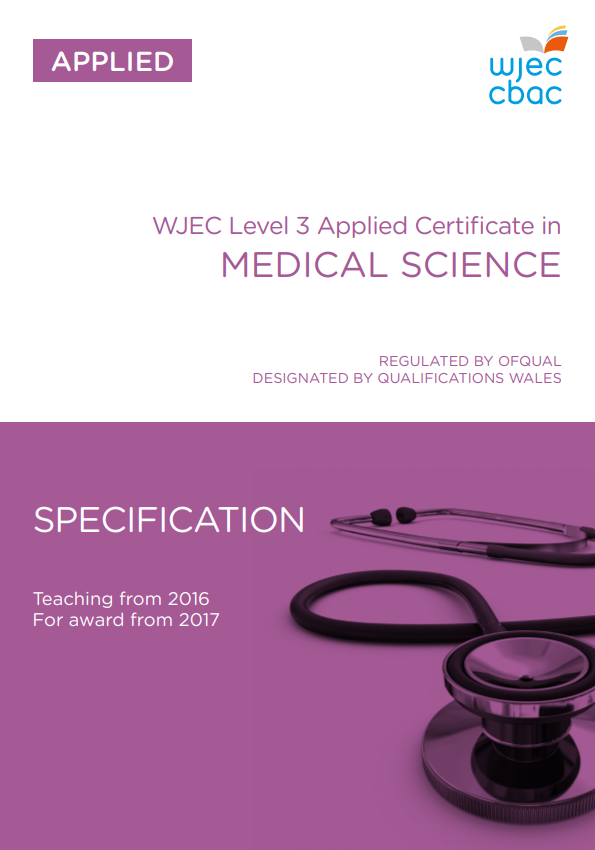 Level 3 Medical Science Certificate Specification