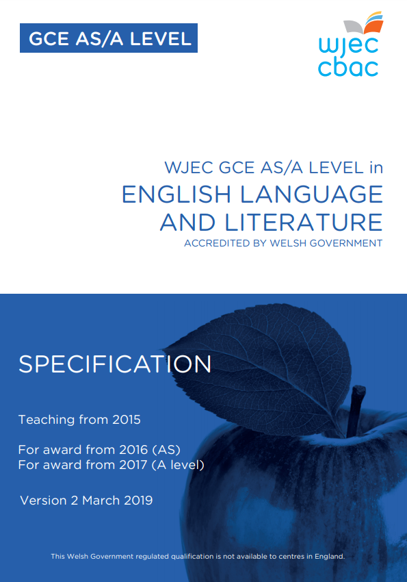 AS/A Level English Language and Literature Specification