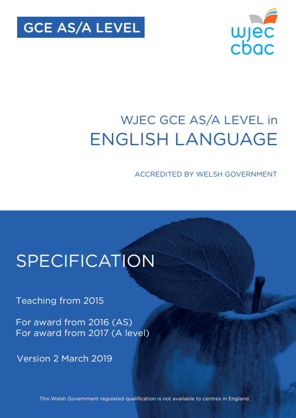 AS/A Level English Language Specification
